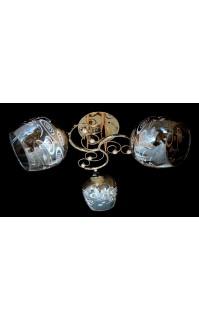Классическая Люстра SVLIGHT трехламповая 2206/3 золото