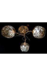 Декоративная Люстра SVLIGHT трехламповая 649/3 золото