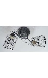 Классическая Люстра SVLIGHT двухламповая 9297/2 хром+черный